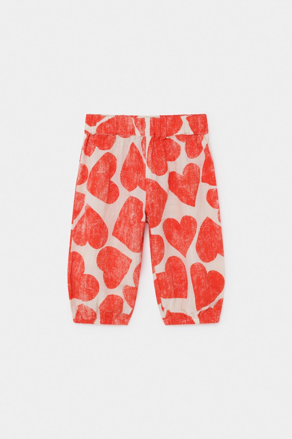 Bobo Choses - All Over Hearts Baggy Trousers - Turtledove