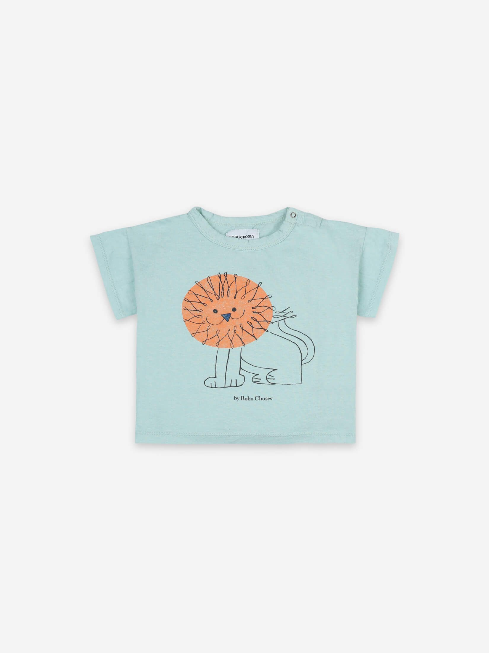 21Bobo Choses - Pet a Lion Short Sleeve T-shirt - Gossamer Green